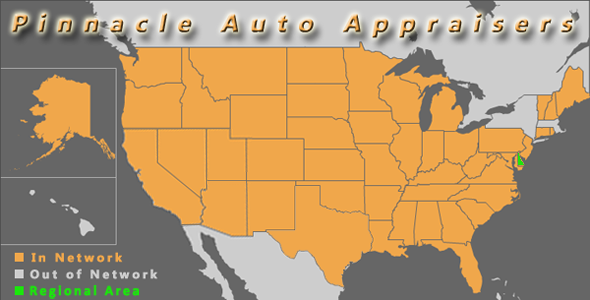 map delaware pinnacle auto appraiser appraisal dimished value inspection