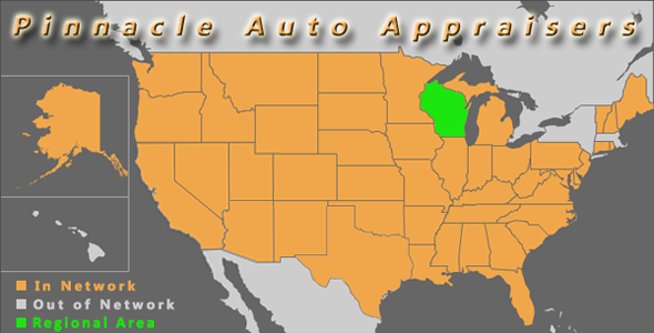 map wisconsin pinnacle auto appraiser appraisal dimished value